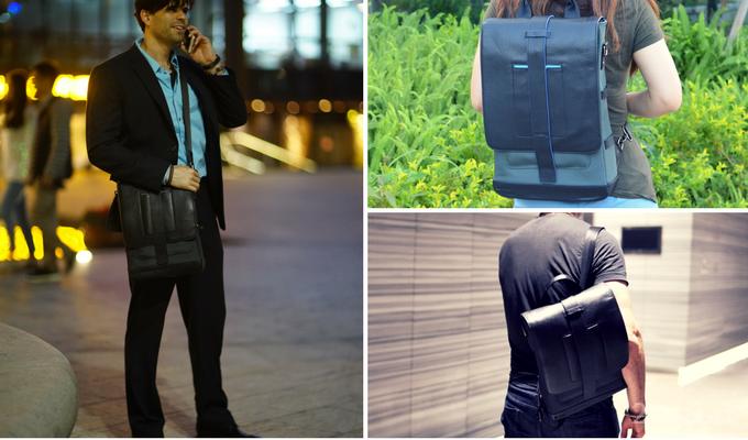Далеко не все сумки, имеющиеся в продаже, приспособлены под нужны современных людей — кармашек для смартфона и то не везде присутствует. Рюкзак Moovy Bag совсем другое дело. В нём предусмотрены все атрибуты городской сумки: от отделения для ноутбука до 5.5-ваттной солнечной панели и аккумулятора для зарядки мобильных устройств ёмкостью 22 000 мАч.