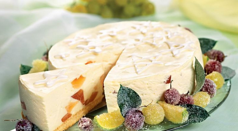 Творожный торт с грейпфрутовым желе. Пошаговый рецепт с фото