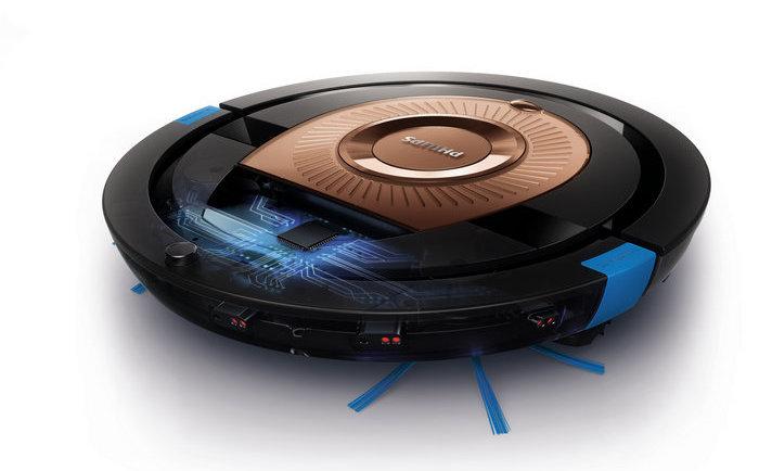 робот-пылесос Philips SmartPro Compact, дополненный насадкой TriActive XL и системой Smart Detection