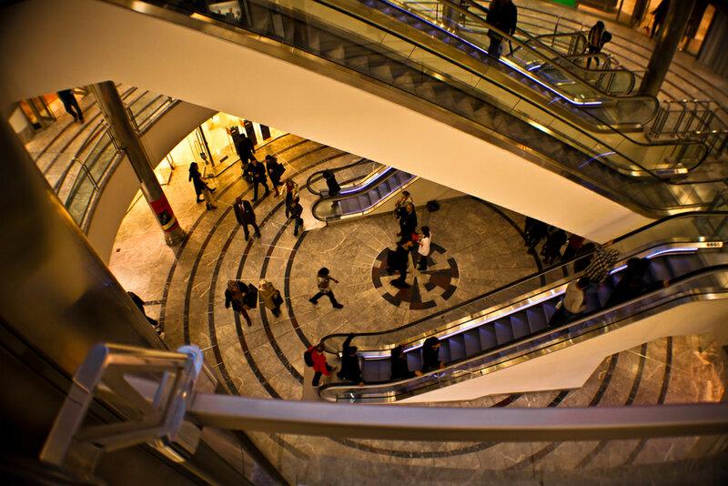 Торговый центр Canary Wharf, внутри