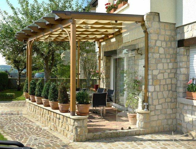 Крытые террасы пристроенные к дому фото собаки лайки