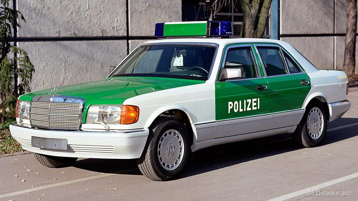 Полицейский Mercedes-Benz S-класса W126