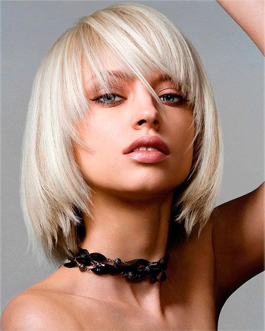 модные женские стрижки  для блондинок
