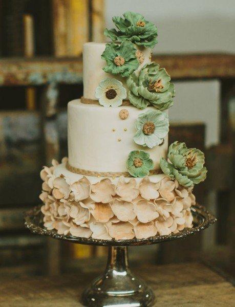 торт на девичник зеленый