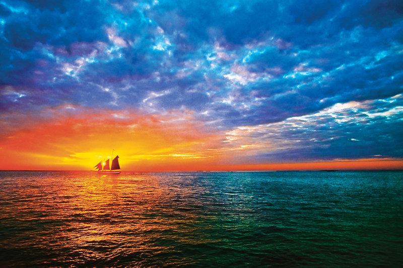 Красивый закат шикарно