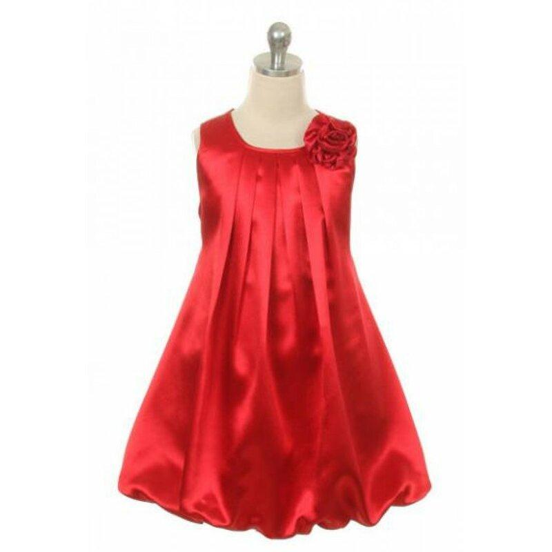 красивое атласное платья для девочек
