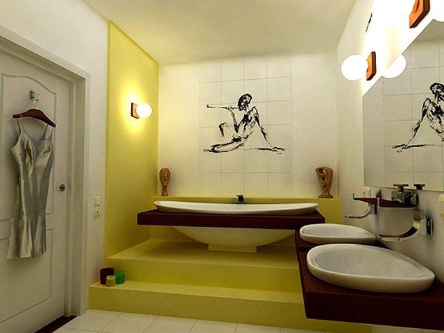 необычный принт в ванную