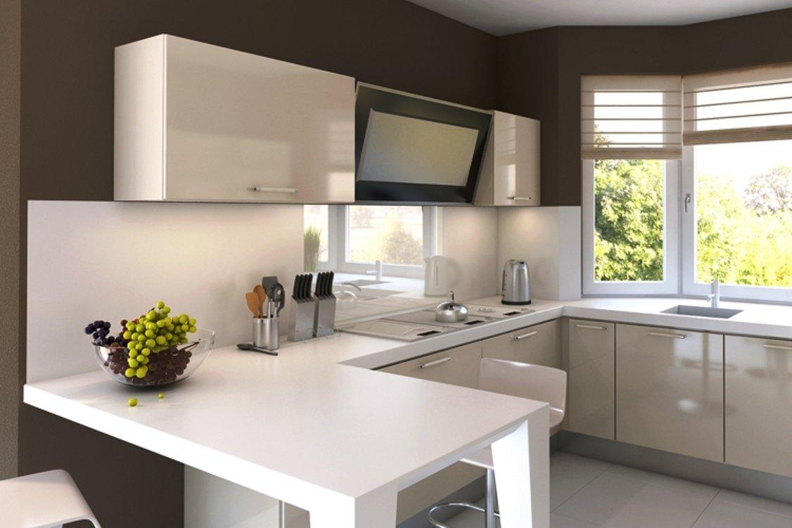 Desain Interior Dapur Kecil Modern Warna Putih Small
