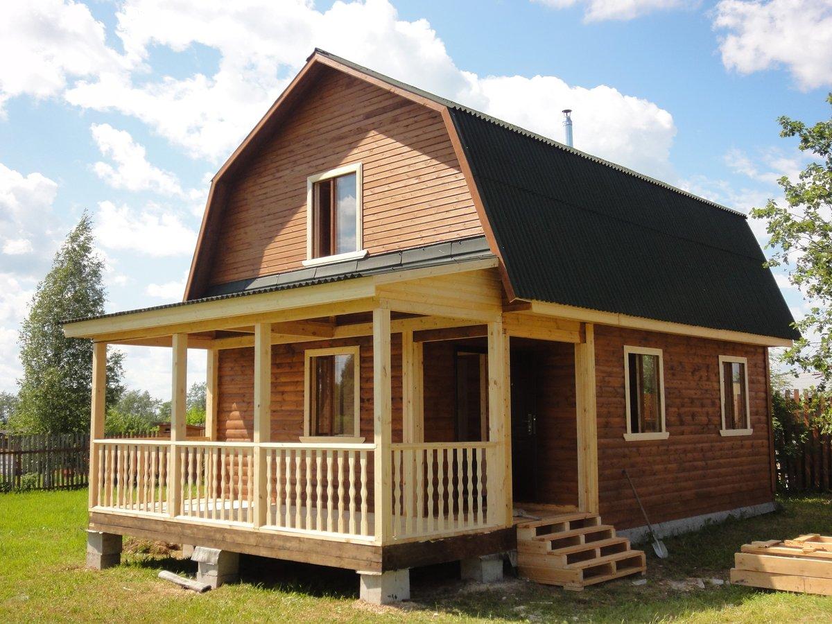строительство дома на даче