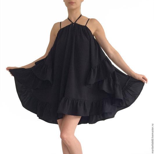 f62f2738891 Купить или заказать CHACHA женская туника платье с оборками в интернет- магазине на Ярмарке Мастеров