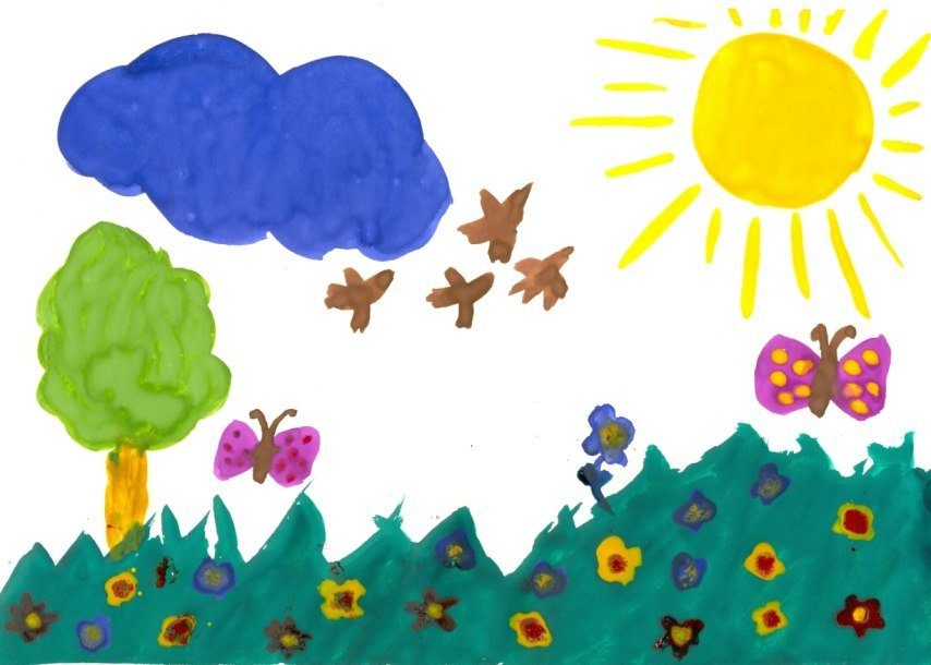 лет рисунок садике в 4 детей