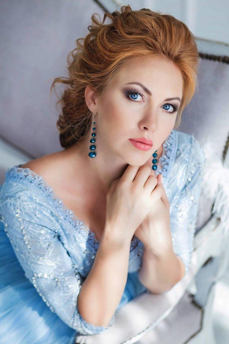 невеста в голубом