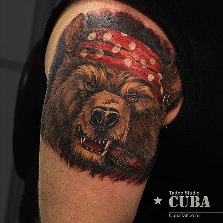 тату медведь в шапке некоторых случаях