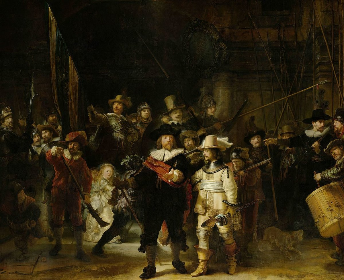 night watch rembrandt It represents the famous painting the night watch or die nachtwache, by rembrandt the puzzle is like new, with all the pieces sealed inside the original plastic bag the box has no tears but it has obvious shelf wear, as you can see in the pictures.