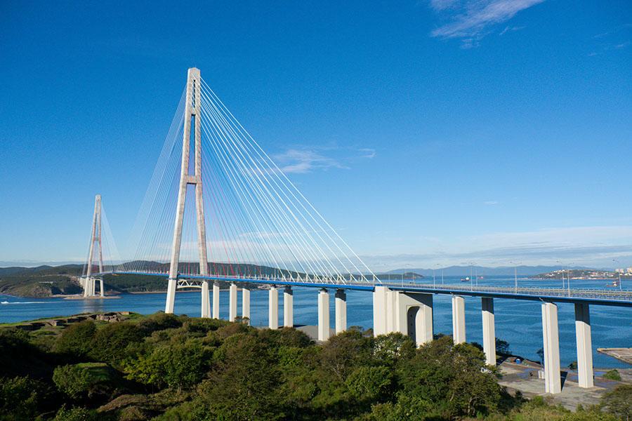 владивосток фото мост русский