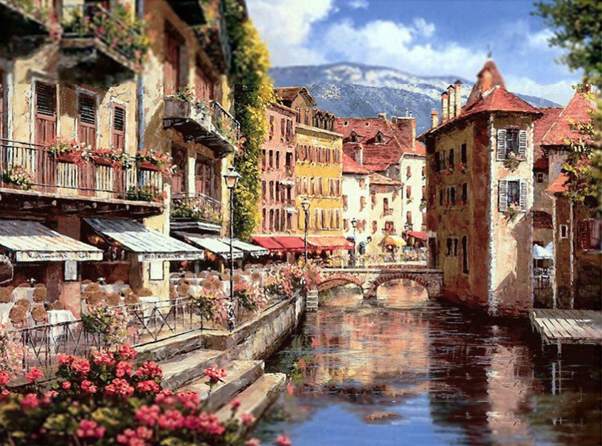 Города европы на открытках, началом