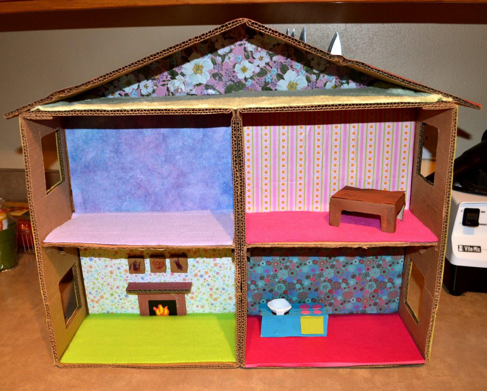 Как сделать кукольный домик и мебель своими руками из коробки фото 295