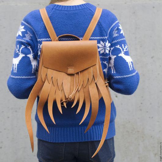 Купить или заказать Кожаный рюкзак Divalli B0043 в интернет-магазине на Ярмарке  Мастеров. Рюкзак 9d4e33797bc