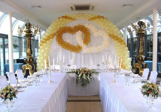 Украшение залов для свадьбы - Оформление свадьбы - примеры работ по украшению свадеб