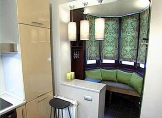 Balkon veya sundurma mutfak: tasar?m, ic mekan fotograflar?.