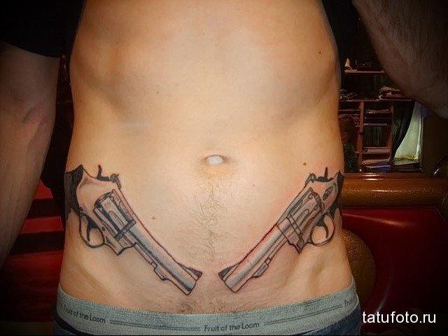 Татуировки на животе мужские - фотографии 89