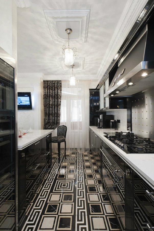 Планировка узкой длинной кухни: