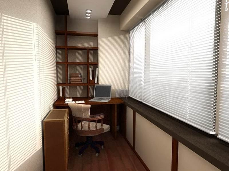 Балкон кабинет дизайн фото.