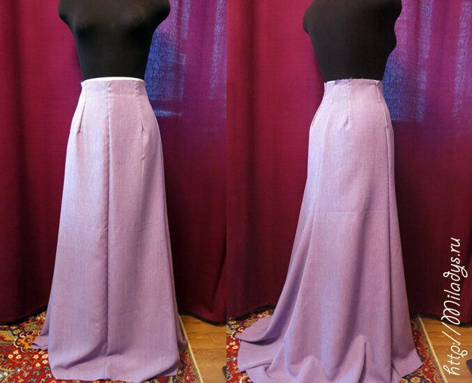 Длинная юбка с разрезом порно