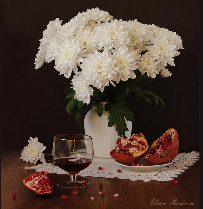картинки хризантемы в вазе фото дом
