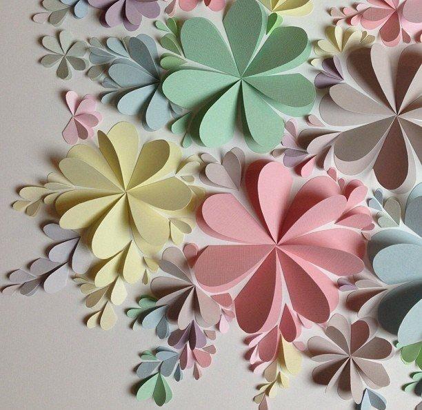 Картинки из цветной бумаги цветы