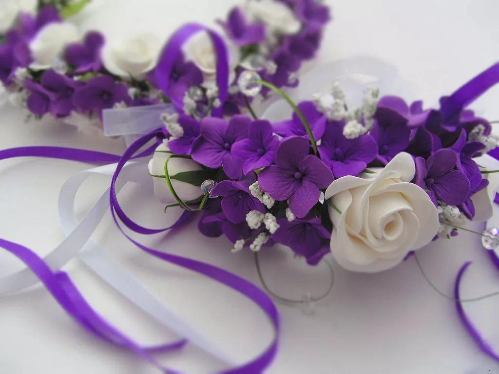 Свадебная открытка в фиолетовых тонах, прикольные