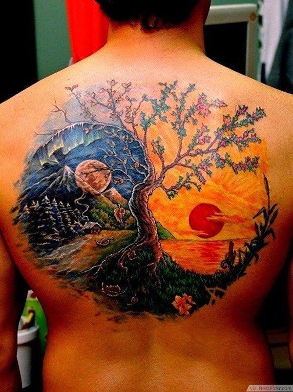1 Cool Yin Yang Wolf Tattoo Idea 2 Awesome Dragon Yin Yang