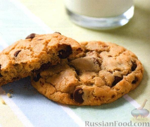 Песочное печенье с шоколадом рецепт с фото