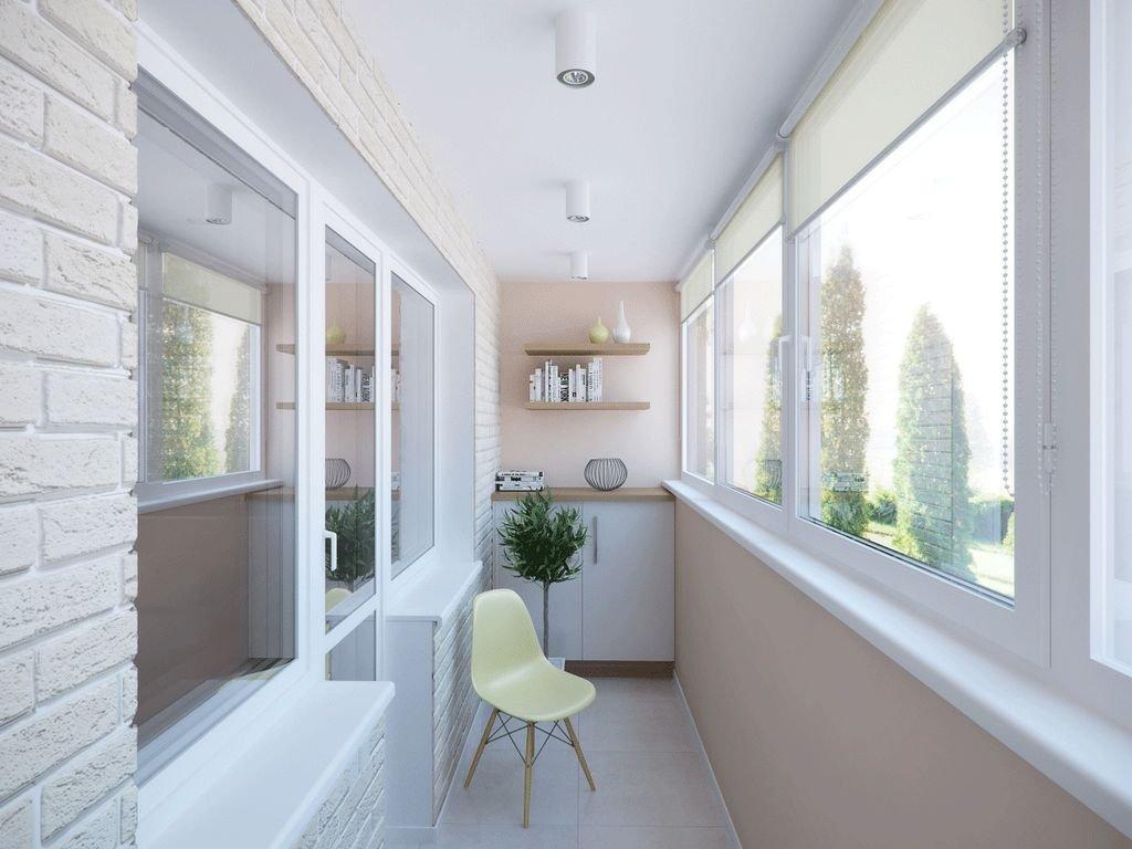 Правильная отделка застекленного балкона или лоджии внутри п.