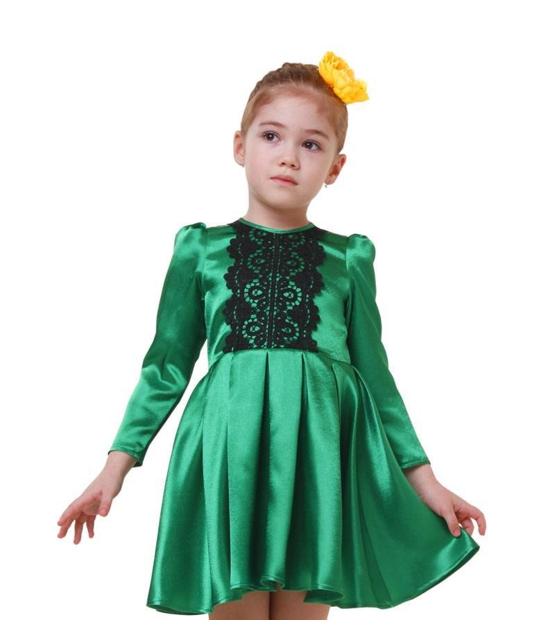 зеленое красивое платье для девочки