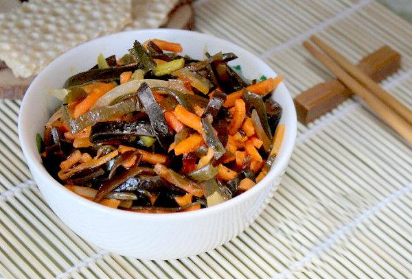 Рецепт постных салатов с морской капустой