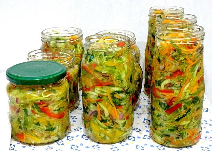 Заготовки огурцы салаты на зиму