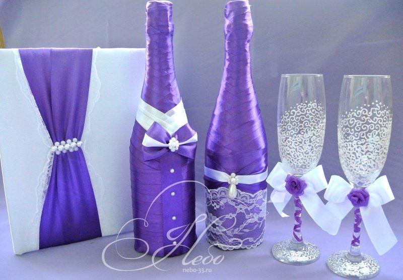 Свадебный декор бутылки шампанского