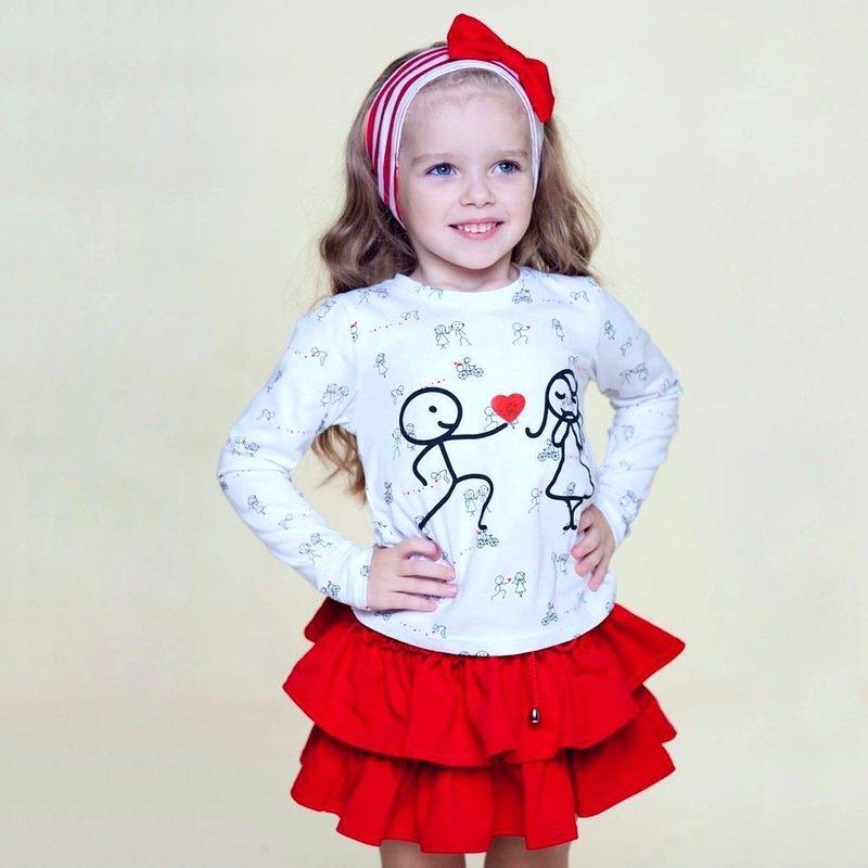Одежда для девочек. Красная юбочка.