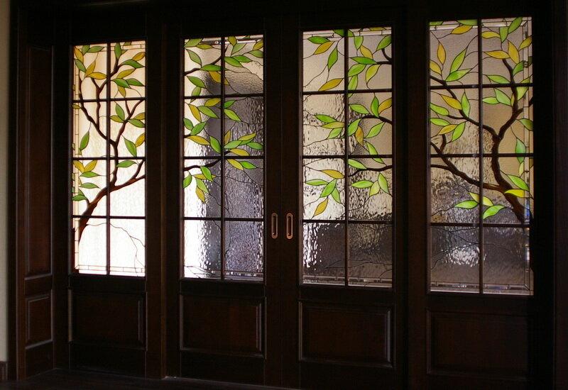 Витражи на окнах и дверях картинки
