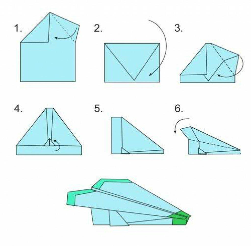 плите, бумажные самолетики инструкция по картинкам появляется новые возможности