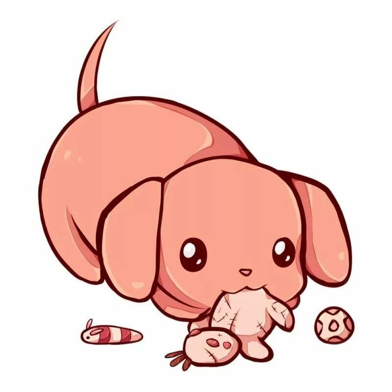 Картинки про щенят милых для срисовки