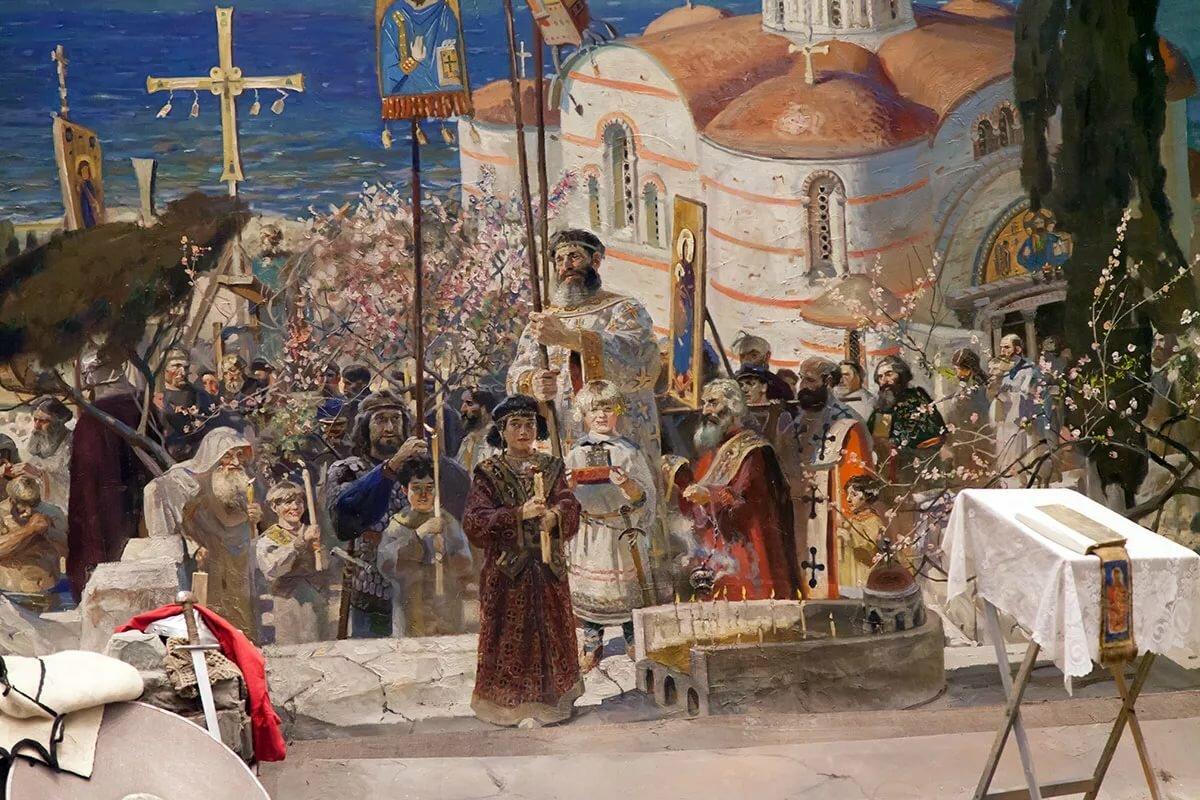 разбили князь владимир крещение картинки которая