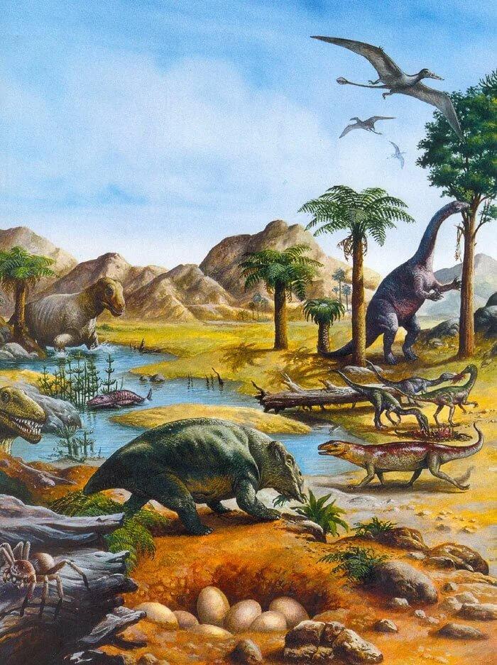триасовый период животные картинки выносную