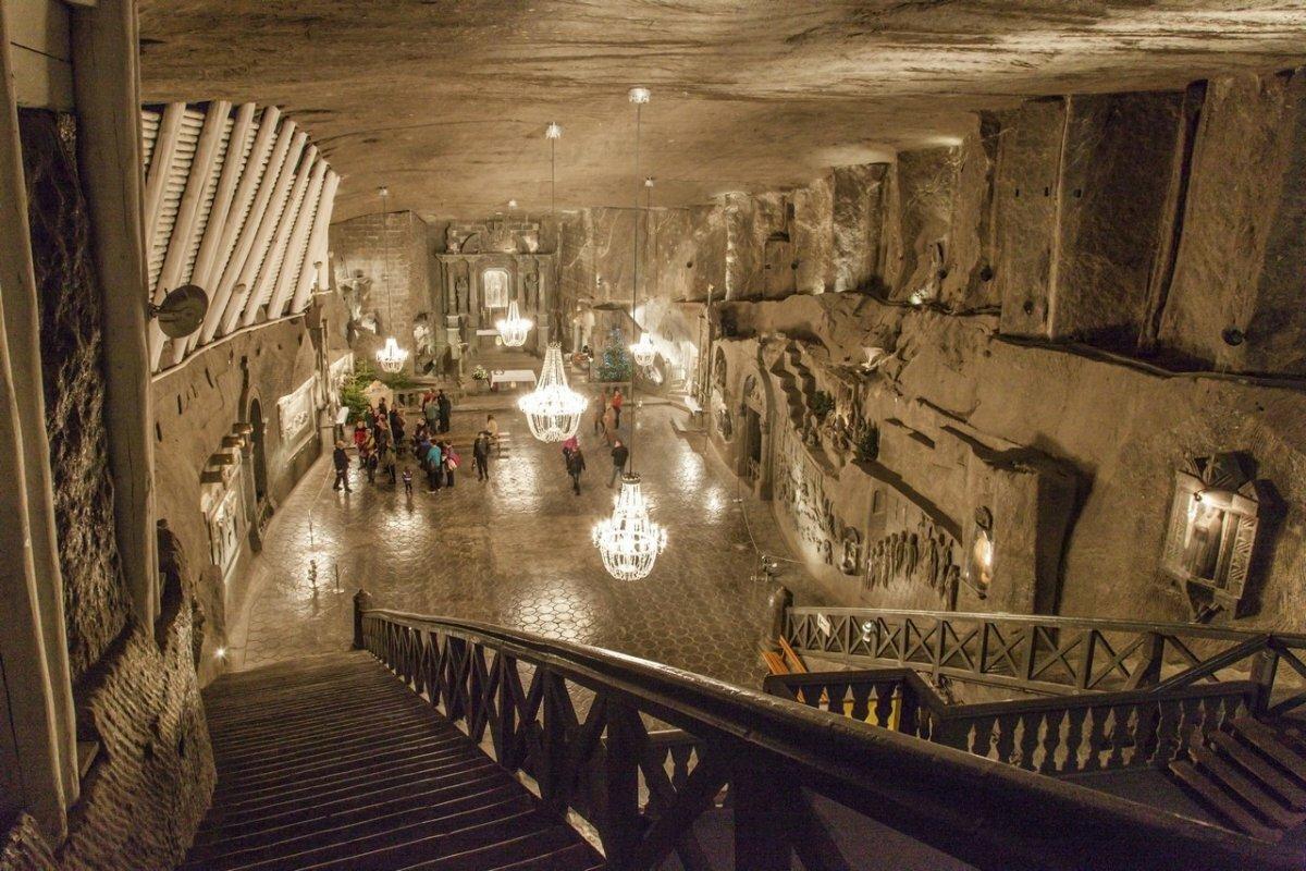 Краков соляные пещеры фото