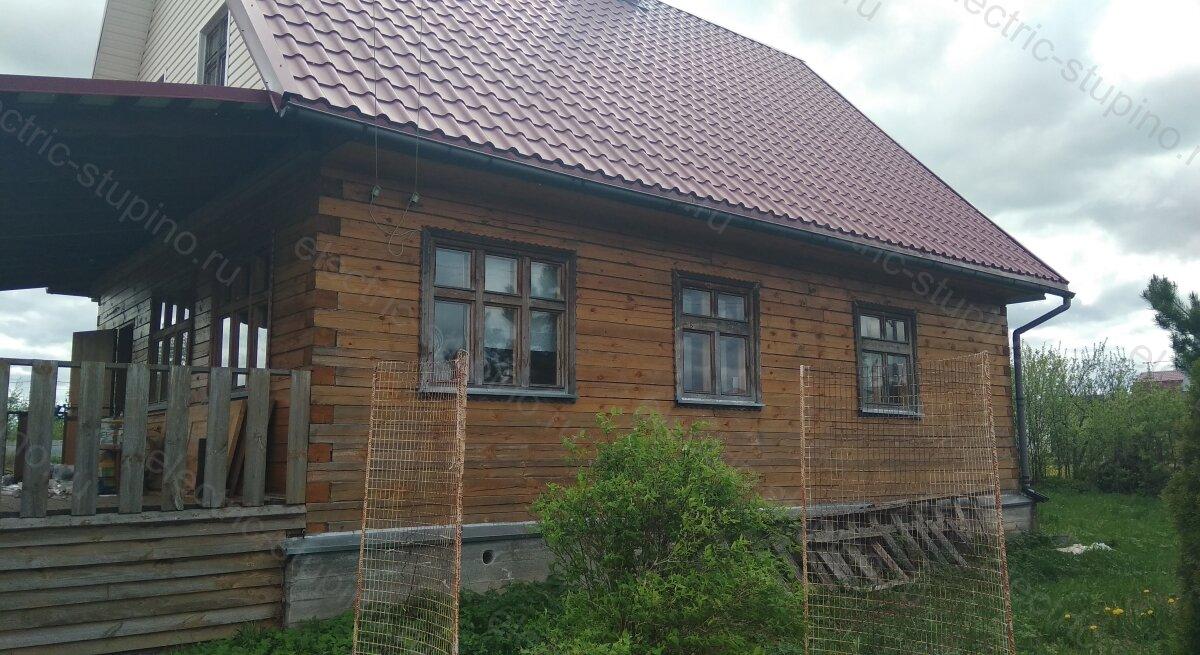 Электропроводка в деревянном доме из бруса