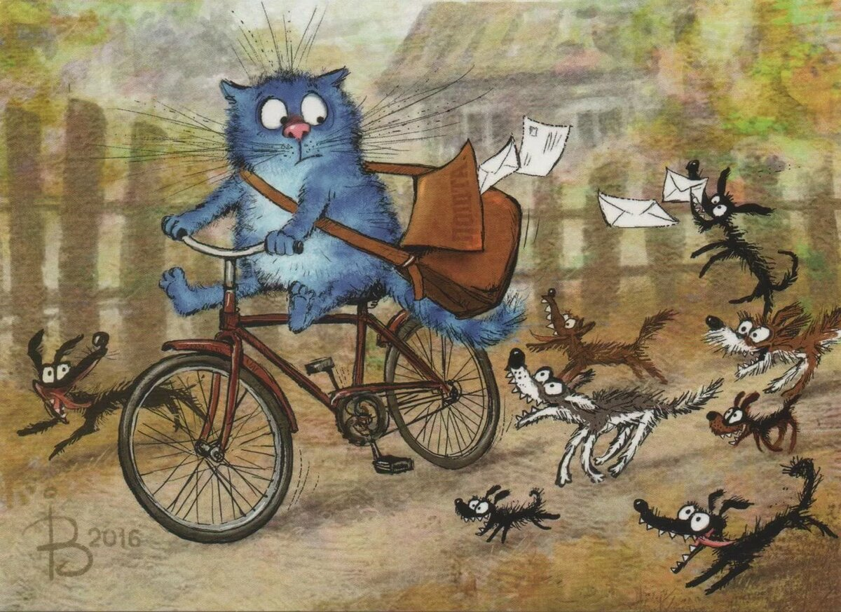 утро на велосипеде веселые картинки