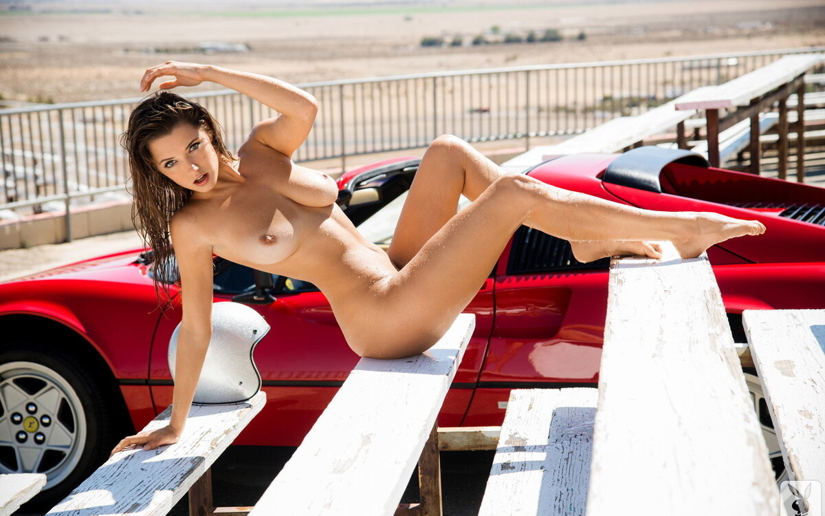Nude car babes background