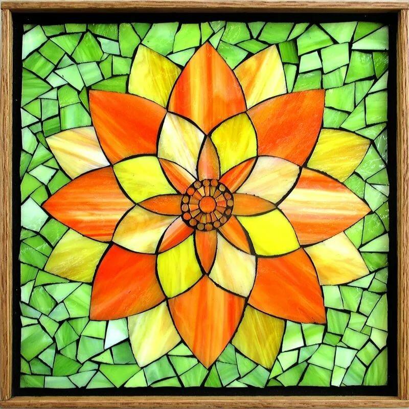 Картинка цветок для мозаики