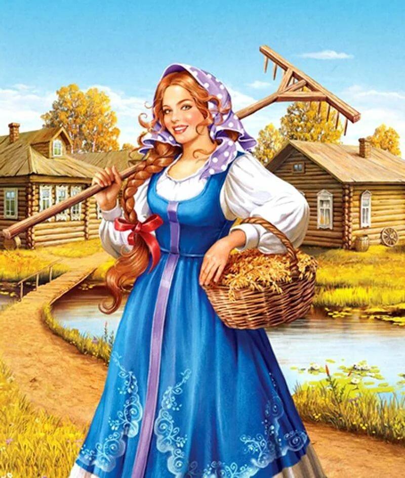 Картинка про русскую женщину